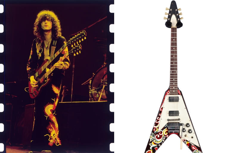 Jimmy Page / Hendrix's Flying V
