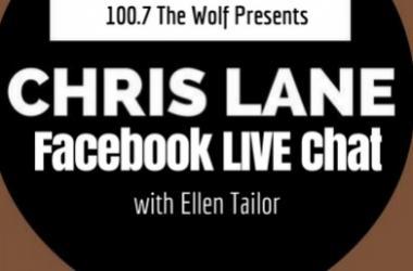 chris lane, ellen tailor, facebook, facebook live, country radio, country, country music