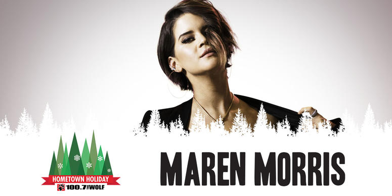 Maren Morris at the Wolf Hometown Holiday 2018