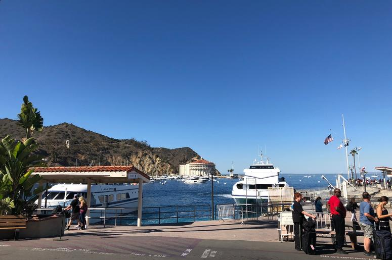 Arriving at Avalon port, Catalina