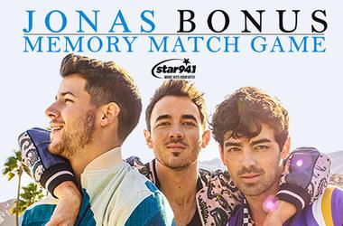Play our Bonus Jonas Match Game to win tickets!