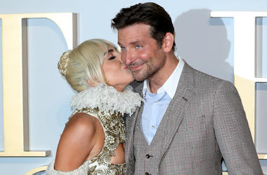 Lady Gaga and Bradley Cooper attend the UK premiere of 'A Star Is Born' held at Vue West End on September 27, 2018 in London, England.
