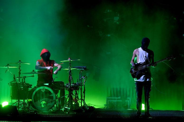 Josh Dun and Tyler Joseph of Twenty One Pilots perform onstage