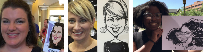 Little Black Dress Caricatures