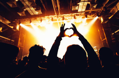 Heart hands at a concert