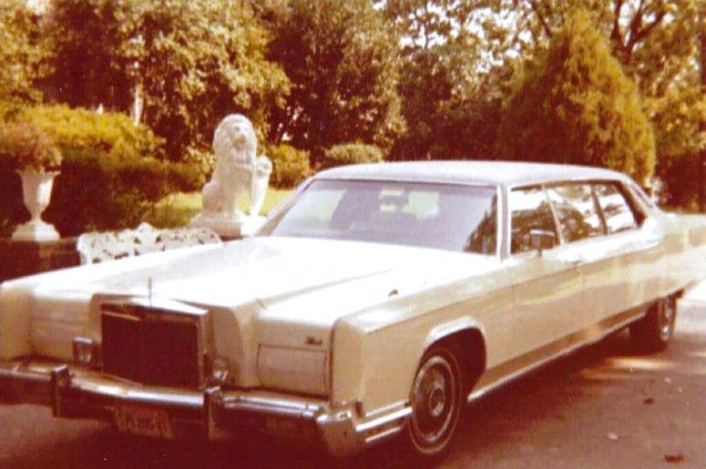 This photo provided by GWS Auctions shows a personal stretch limousine that belonged to Elvis Presley. Kruse GWS Auctions said the limousine and other items will be part of its Artifacts of Hollywood auction on Aug. 31, 2019. Presley drove the white-on-wh