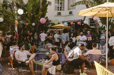 A party at Miami's Broken Shaker