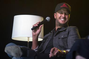 Luke Bryan speaks at the CMA Close Up Stage during the 2018 CMA Music Festival