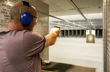 Guy on Gun Range