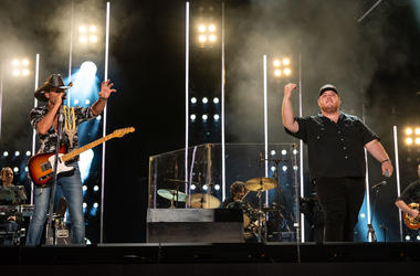 Tim McGraw and Luke Combs at CMA Fest