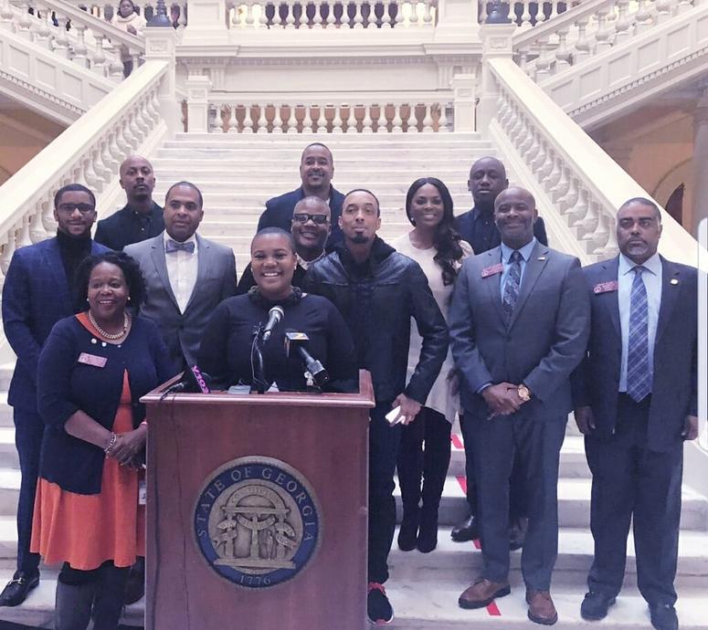 Georgia Entertainment Caucus Members at the Georgia Capitol
