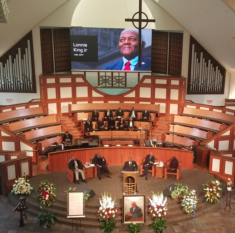 Ebenezer Baptist Church is where the Memorial Service for Lonnie King Jr. was held Tuesday.