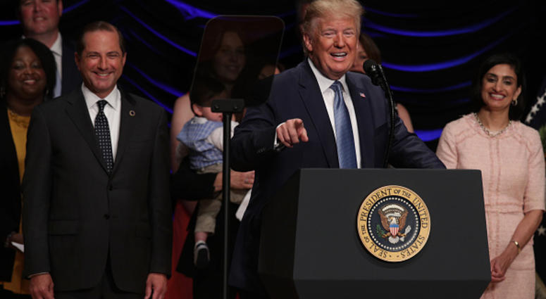 President Donald Trump speaking at  Health and Human  Services July 10 2019