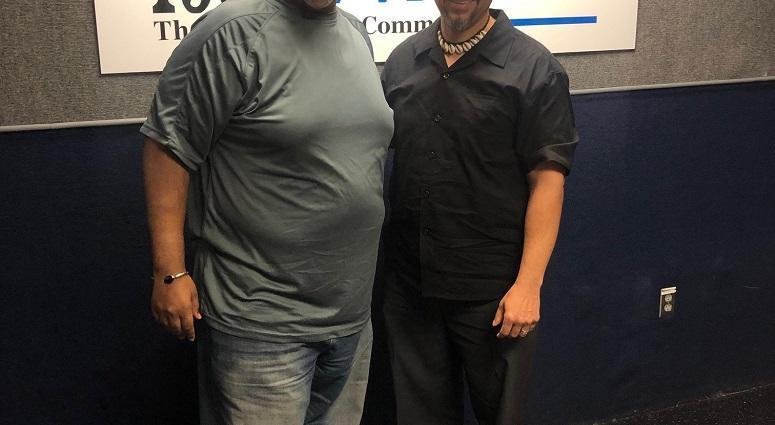 Derrick Boazman with Professor Chike Akua