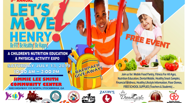 Join us for the 5th Annual Let's Move Henry Children's Back to