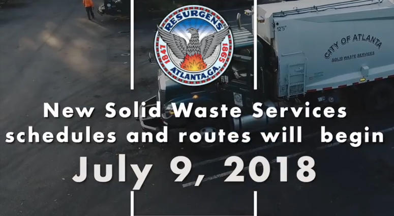 City of Atlanta New Trash Day Garbage Truck