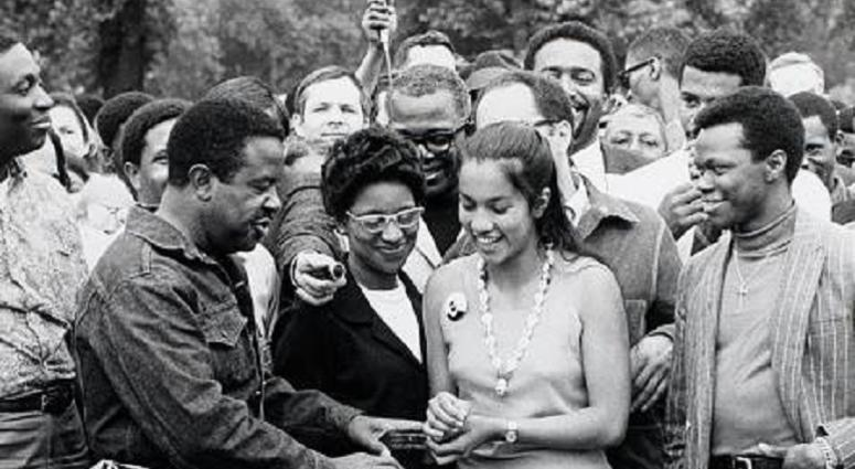 Civil rights campaigner Dr. Ralph Abernathy  and his wife Juanita Abernathy
