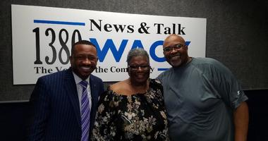 President of Morris Brown Kevin James with Morris Brown Alum Joyce Littel & Derrick Boazman