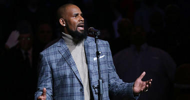 R. Kelly performs the National Anthem prior to the game between the Brooklyn Nets and the Atlanta Hawks at Barclays Center in 2015.