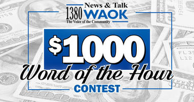 1380 WAOK $1000 Word of the Hour