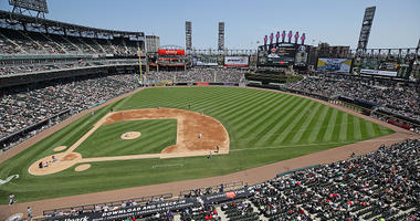 A general view of Guaranteed Rate Field in Chicago.