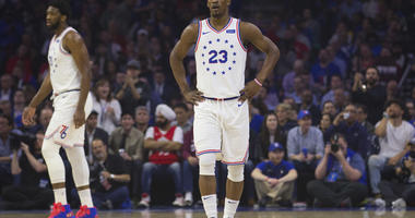 Jimmy Butler in a playoff game for the Sixers.