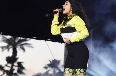 Alessia Cara performs with Zedd at Coachella Stage during the 2019 Coachella Valley Music And Arts Festival on April 21, 2019 in Indio, California