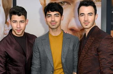 Nick Jonas, Joe Jonas, and Kevin Jonas attend the Premiere of Amazon Prime Video's 'Chasing Happiness'