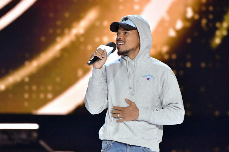 Chance The Rapper speaks onstage at WE Day California at The Forum on April 25, 2019 in Inglewood, California