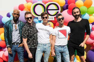 Karamo Brown, Bobby Berk, Antoni Porowski, Tan France and Jonathan Van Ness of Netflix's Queer Eye celebrating Emmys with GLSEN