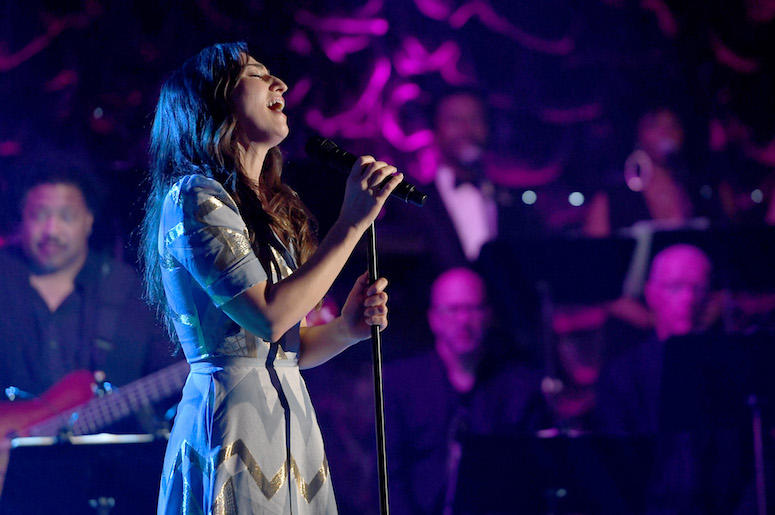 Sara Bareilles performs at the Songwriters Hall of Fame Awards