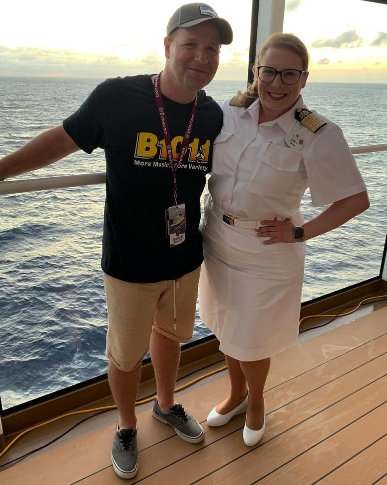 Bill with Carly Scott, Cruise Director.