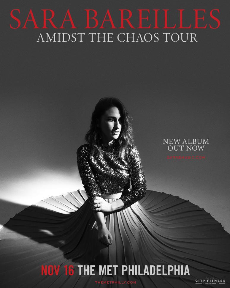 Sara Bareilles Amidst the Chaos Tour poster