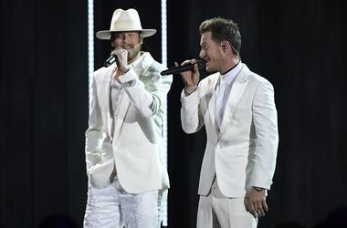 Tyler Hubbard and Brian Kelley, Florida Georgia Line. 52nd Annual CMA Awards