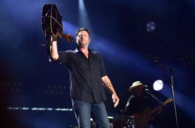 Nashville, Tennessee - Blake Shelton. 2018 CMA Fest Nightly Concert held at Nissan Stadium.