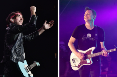 Alex Gaskarth and MArk Hoppus