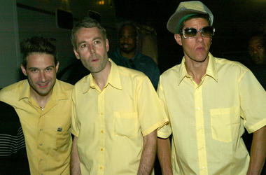 The Beastie Boys backstage at the 2004 MTV Movie Awards