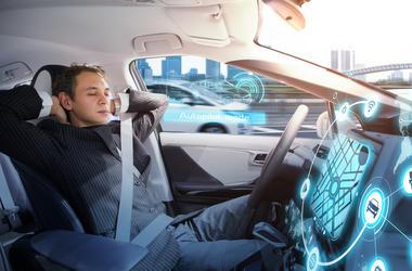 Guy sleeping at the wheel