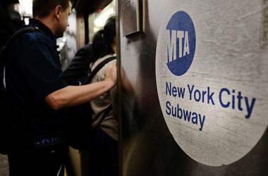 Riders Boarding MTA Subway