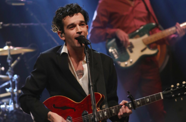 Lead singer Matthew Healy, from The 1975, performing during the filming for the Graham Norton Show at BBC Studioworks 6 Television Centre