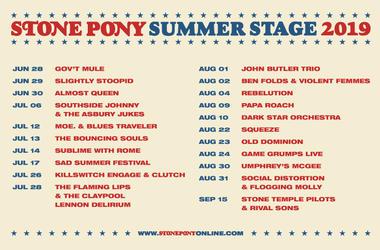 Stone Poney 2019 Lineup