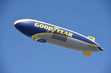 Spend a night in the Good Year Blimp