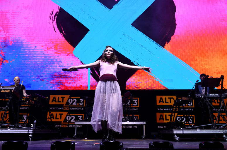 CHVRCHES perform at Not So Silent Night
