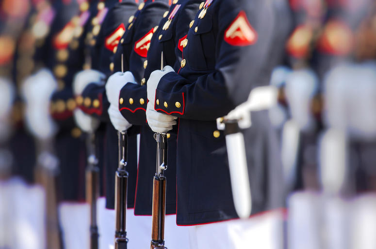 Soldiers at Attention