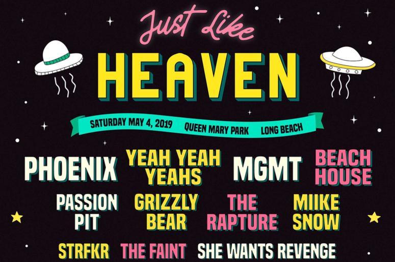 Just Like Heaven Festival Line Up