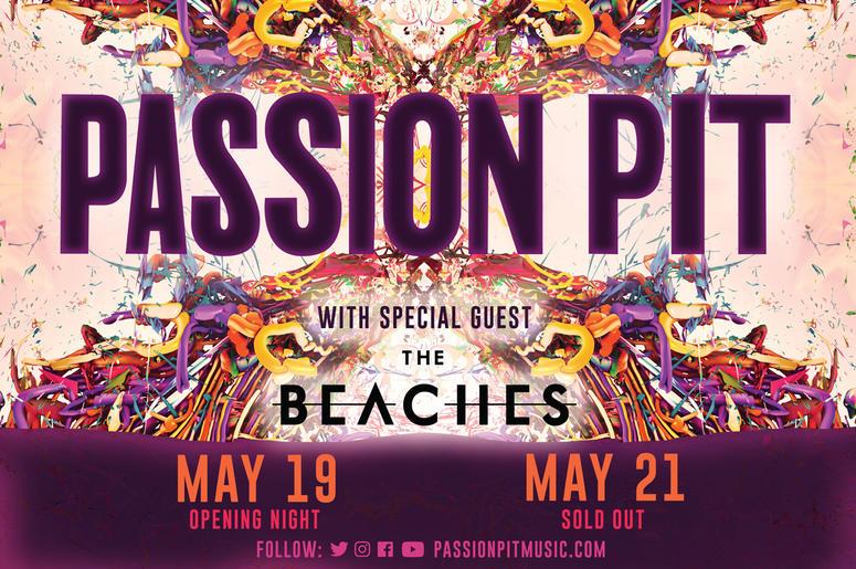 Passion Pit Tour 2019