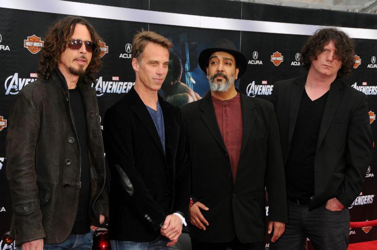 Chris Cornell, Matt Cameron, Kim Thayil, Ben Shepherd in 2012