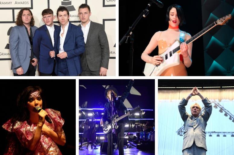 Arctic Monkeys, St. Vincent, David Byrne, Beck, Bjork