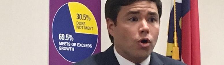 North Carolina schools chief running for lieutenant governor