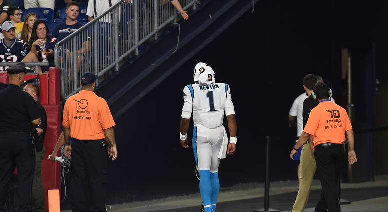 Cam Suffers Foot Injury; Leaves in Walking Boot